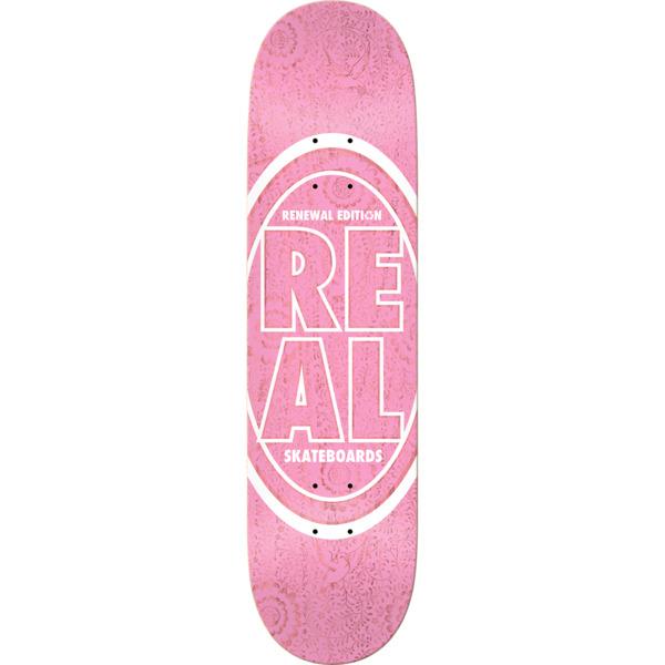 "Real Skateboards Stacked Floral Pink Skateboard Deck - 8.06"" x 31.8"""