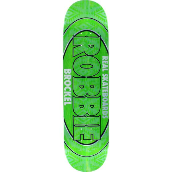 "Real Skateboards Robbie Brockel Oval Assorted Colors Skateboard Deck - 8.06"" x 31.8"""