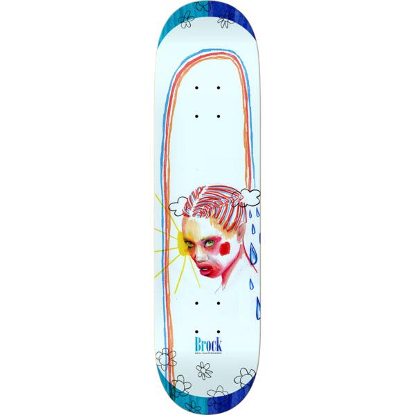"""Real Skateboards Justin Brock Dessie Jackson Sketches Skateboard Deck - 8.38"""" x 32.2"""""""