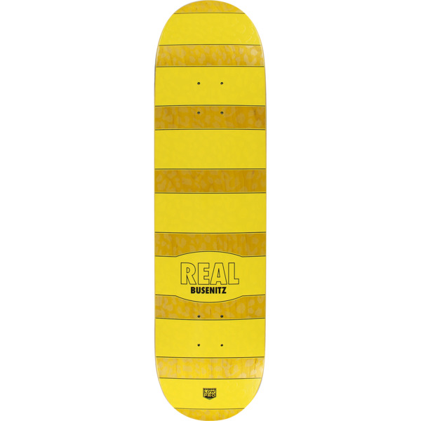 "Real Skateboards Dennis Busenitz Cheetah Yellow Skateboard Deck - 8.06"" x 31.8"""