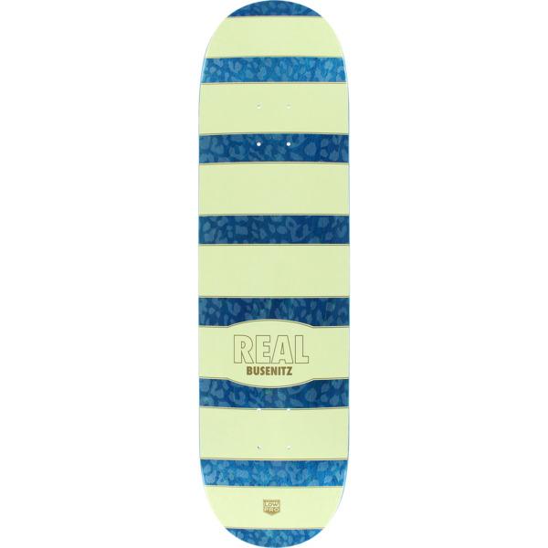 "Real Skateboards Dennis Busenitz Cheetah Natural / Blue Skateboard Deck - 8.38"" x 32.25"""