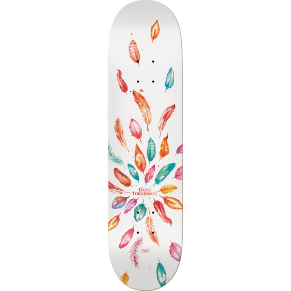 "Real Skateboards Davis Torgeson Wild Feathers Skateboard Deck - 8.25"" x 32"""