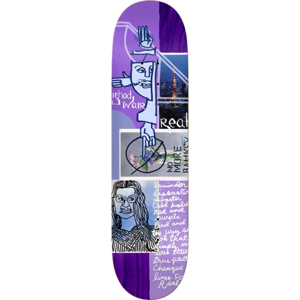 "Real Skateboards Ishod Wair Postcards From Mark Skateboard Deck - 8.12"" x 32"""