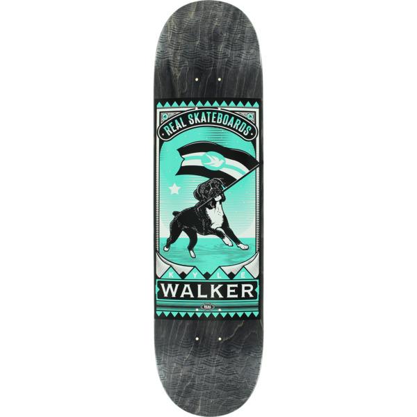 """Real Skateboards Kyle Walker Matchbook Black Skateboard Deck - 8.06"""" x 31.85"""""""