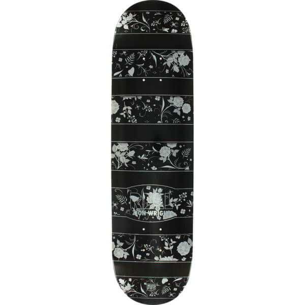 "Real Skateboards Zion Wright Floral Black / White Skateboard Deck - 8.06"" x 32"""