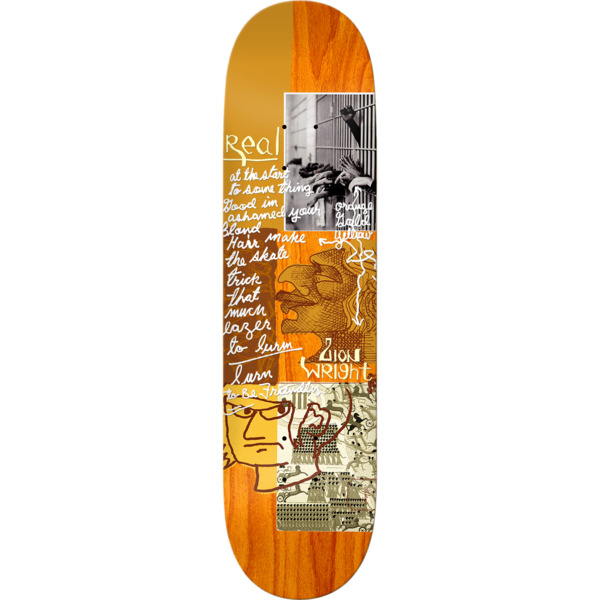 """Real Skateboards Zion Wright Postcards From Mark Skateboard Deck - 8.5"""" x 32.5"""""""