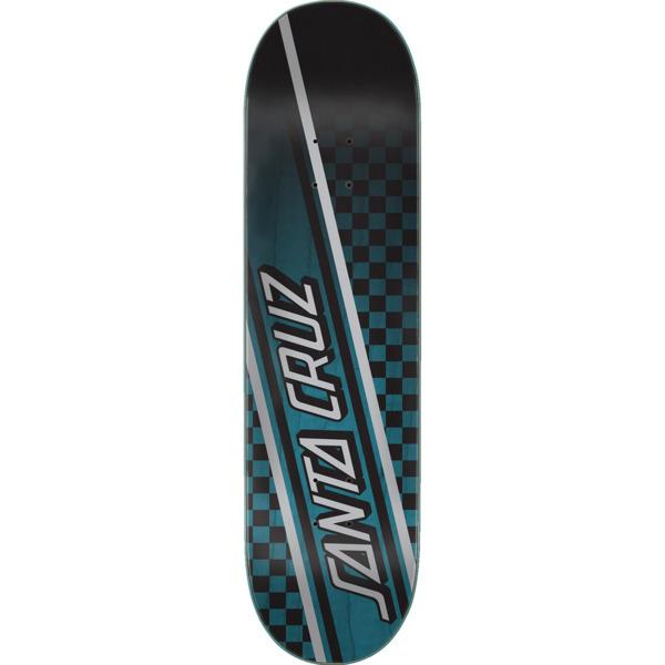 """Santa Cruz Skateboards Checkstrip Black / Blue Skateboard Deck - 8.25"""" x 31.8"""""""