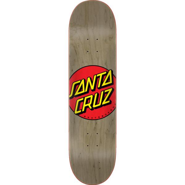 "Santa Cruz Skateboards Classic Dot Matte Natural Skateboard Deck - 8.37"" x 31.83"""