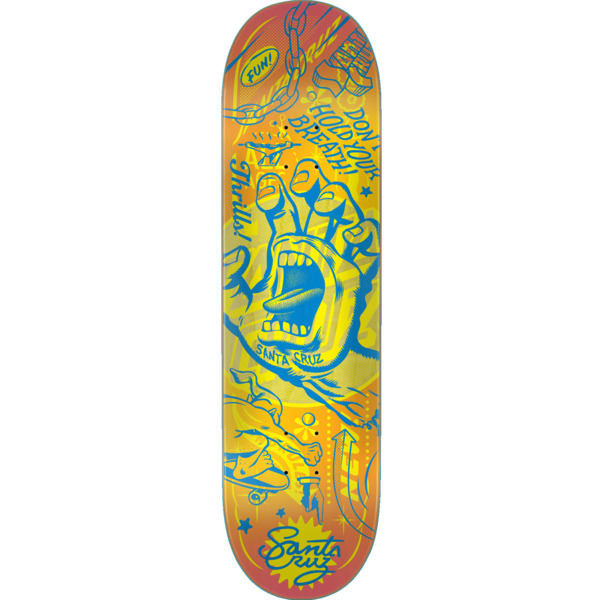 "Santa Cruz Skateboards Flash Hand Skateboard Deck - 8.25"" x 31.8"""