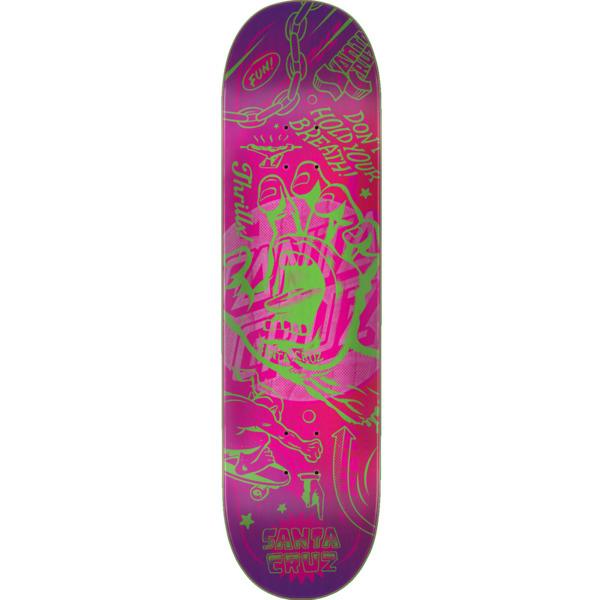 "Santa Cruz Skateboards Flash Hand Skateboard Deck - 8.5"" x 32.2"""