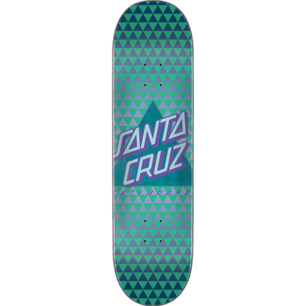 "Santa Cruz Skateboards Not A Dot Teal Skateboard Deck Taper Tip - 8"" x 31.7"""