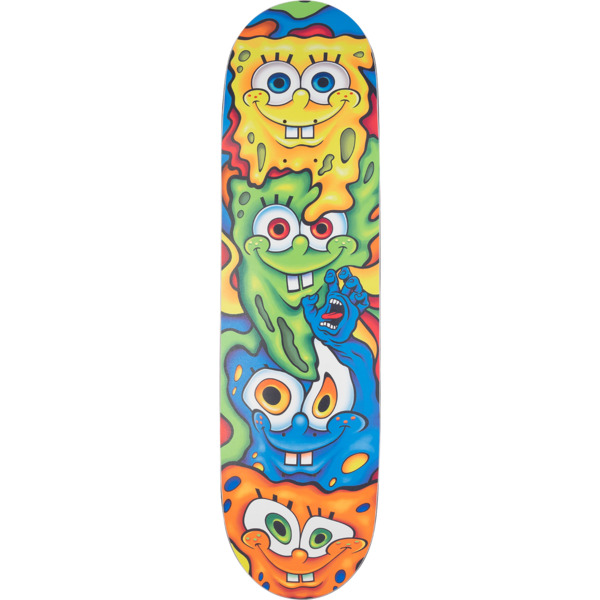 "Santa Cruz Skateboards SpongeBob SquarePants Melt Skateboard Deck Everslick - 8.5"" x 32.2"""