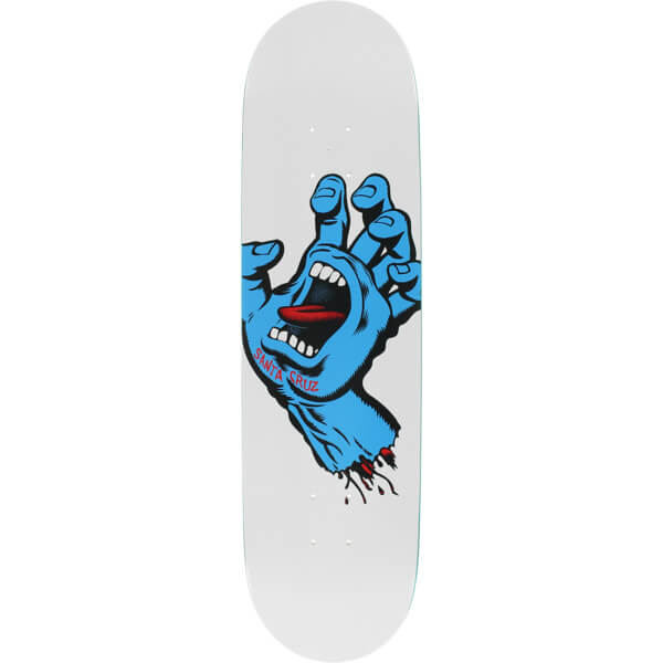 771f5b495c Santa Cruz Skateboards Screaming Hand Taper Tip White / Blue ...