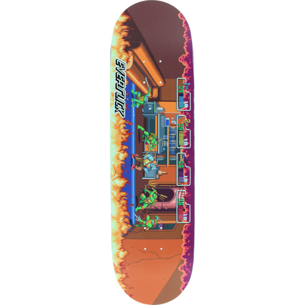 "Santa Cruz Skateboards TMNT Arcade Everslick Skateboard Deck - 8.5"" x 32.2"""