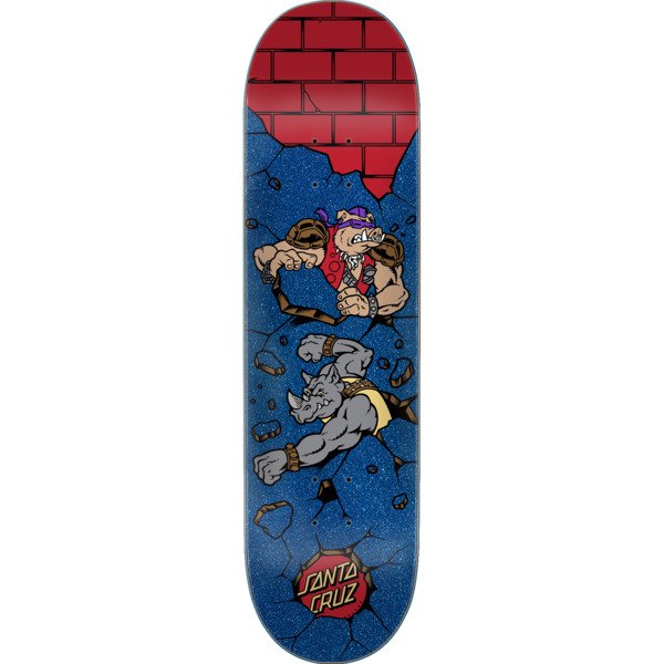 "Santa Cruz Skateboards TMNT Bebop and Rocksteady Skateboard Deck - 8.12"" x 31.7"""