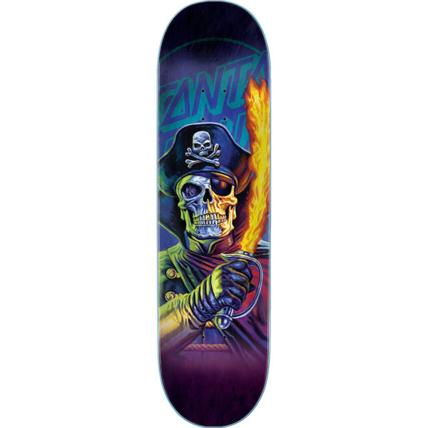 "Santa Cruz Skateboards The Worst Captain Deadstar Skateboard Deck Everslick - 8.25"" x 31.8"""
