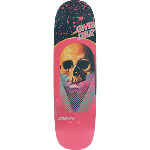"Santa Cruz Skateboards Eric Dressen Everslick Destroyer Black / Pink Skateboard Deck - 8.5"" x 31.85"""