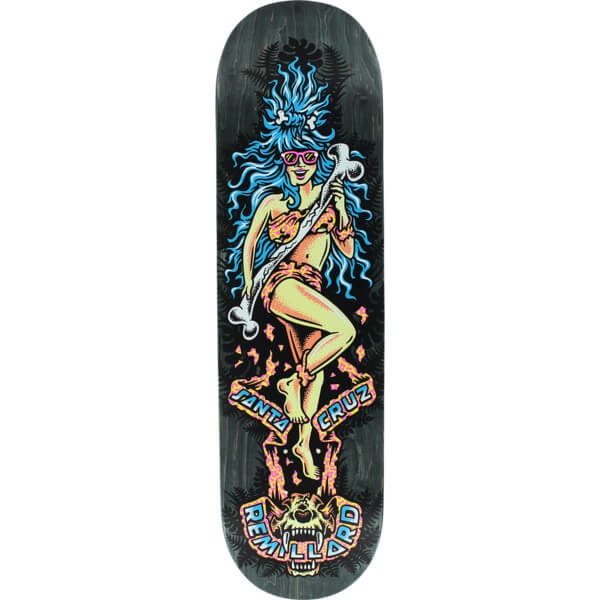 "Santa Cruz Skateboards Tom Remillard Cave Babe Skateboard Deck - 8.37"" x 32"""
