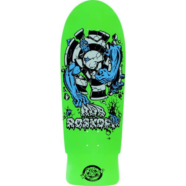 Santa Cruz Skateboards Rob Roskopp Target 3 Fluorescent Green Skateboard Deck 10 25