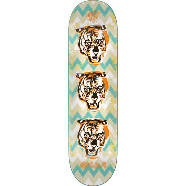 "Santa Cruz Skateboards Steve Alba Salba Tiger Stencil Skateboard Deck - 8.6"" x 32.3"""