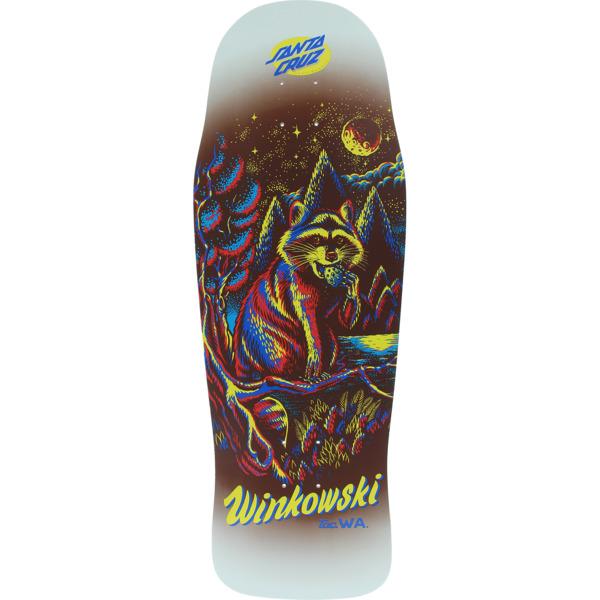 "Santa Cruz Skateboards Erick Winkowski Trash Panda Grey Skateboard Deck - 10.34"" x 30.54"""