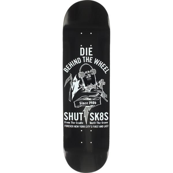 """Shut Skateboards Die Behind The Wheel Skateboard Deck - 7.75"""" x 31.875"""""""