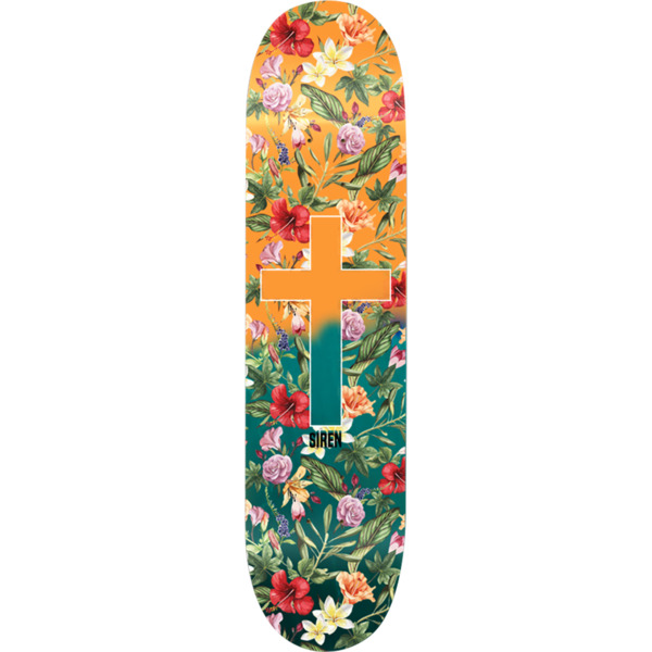 "Siren Skateboards Aloha Orange / Green Fade Skateboard Deck - 8.5"" x 32"""
