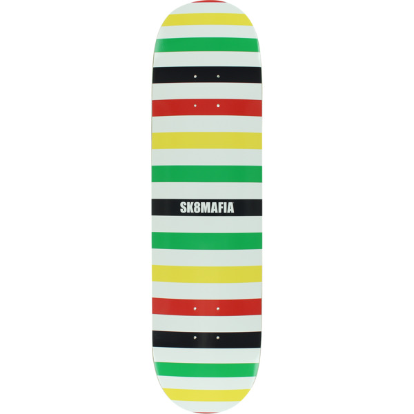 "Sk8mafia Skateboards Basic Logo Rasta Skateboard Deck - 8"" x 32"""