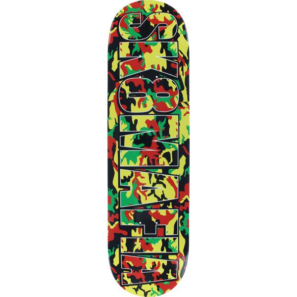 "Sk8mafia Skateboards OG Logo Rasta Camo Skateboard Deck - 8.25"" x 32"""