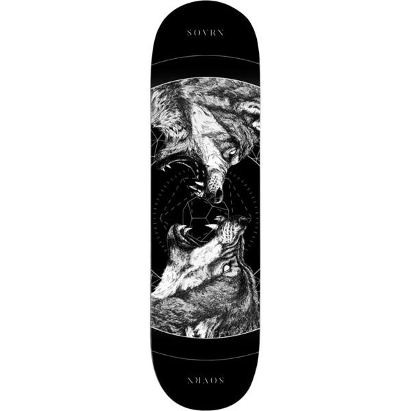 "Sovrn Skateboards Geri & Freki Black Skateboard Deck - 8"" x 31.75"""