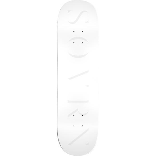 "Sovrn Skateboards Logo 5 White Skateboard Deck - 8.25"" x 32"""
