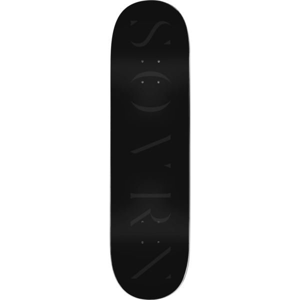 """Sovrn Skateboards Logo 6 Black Skateboard Deck - 8.5"""" x 32.2"""""""