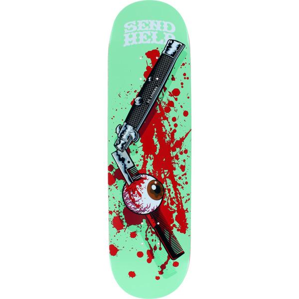 "Send Help Skateboards Comb Skateboard Deck - 8.5"" x 32"""