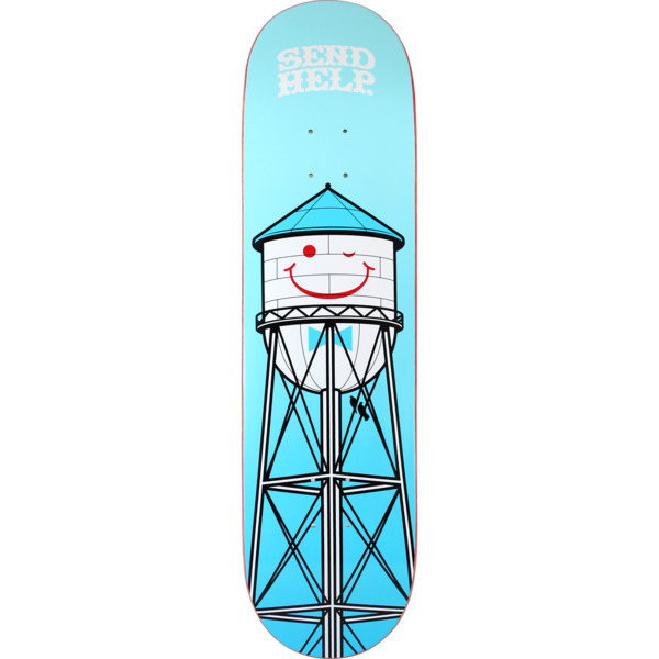 "Send Help Skateboards Smiley Skateboard Deck - 8.5"" x 32"""