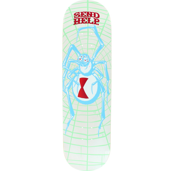 "Send Help Skateboards White Widow Skateboard Deck - 8.5"" x 32"""
