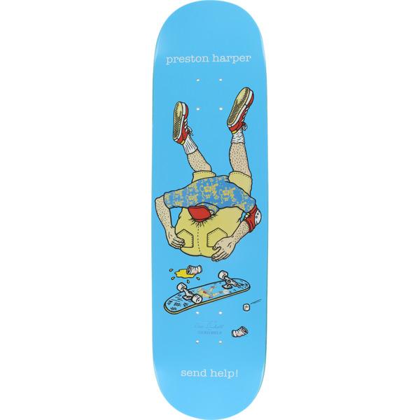 "Send Help Skateboards Preston Harper Asshead Blue Skateboard Deck - 8.25"" x 32"""