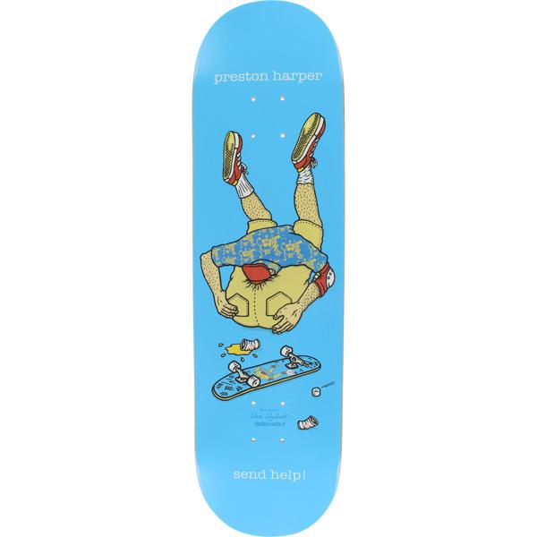 "Send Help Skateboards Preston Harper Asshead Blue Skateboard Deck - 8.6"" x 32"""