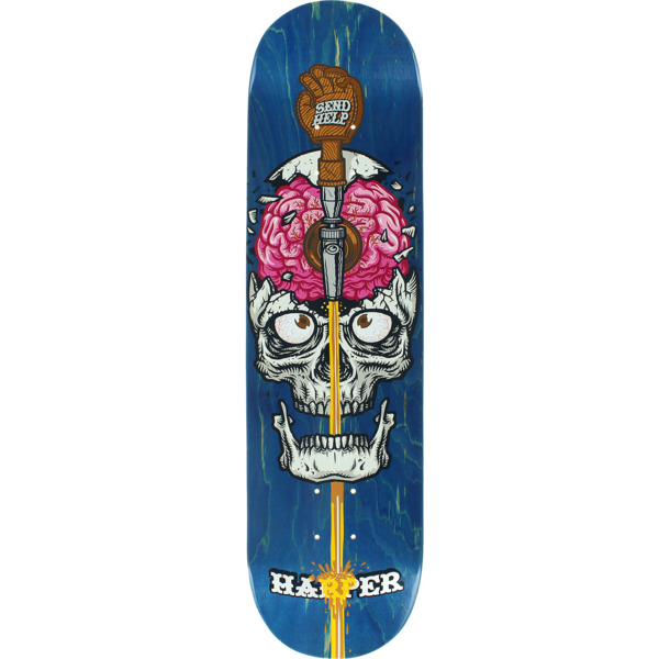 "Send Help Skateboards Preston Harper Drain Skateboard Deck - 8"" x 32"""