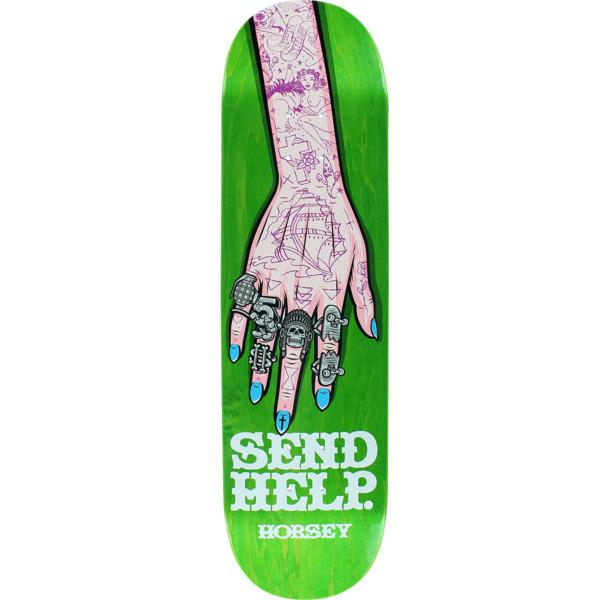 "Send Help Skateboards Scott Horsey Walker Rings Skateboard Deck - 8.37"" x 32"""