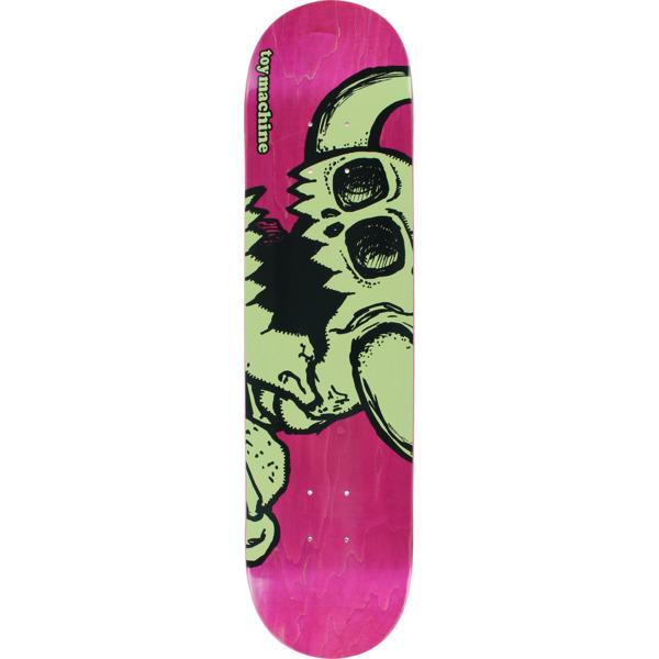"Toy Machine Skateboards Vice Dead Monster Pink Skateboard Deck - 7.5"" x 31.5"""