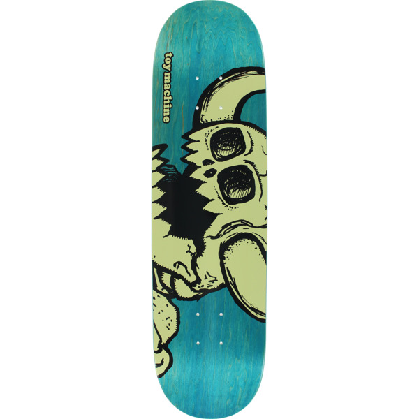 "Toy Machine Skateboards Vice Dead Monster Turquoise Skateboard Deck - 8"" x 32"""