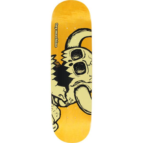 "Toy Machine Skateboards Vice Dead Monster Orange Skateboard Deck - 8.5"" x 32.38"""