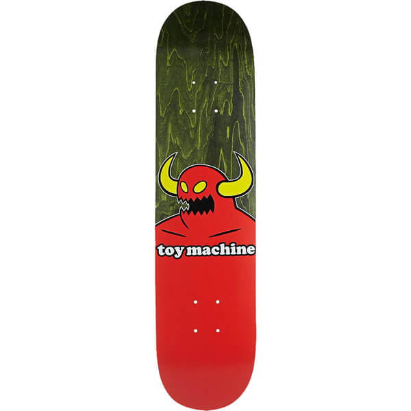 "Toy Machine Skateboards Monster Black Stain Skateboard Deck - 8.12"" x 31.88"""