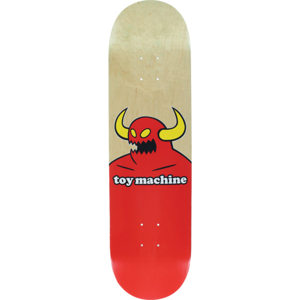 "Toy Machine Skateboards Monster Natural Skateboard Deck - 8.25"" x 31.88"""