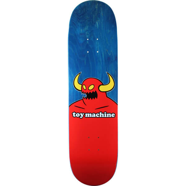"Toy Machine Skateboards Monster Blue Stain Skateboard Deck - 8.5"" x 32.25"""