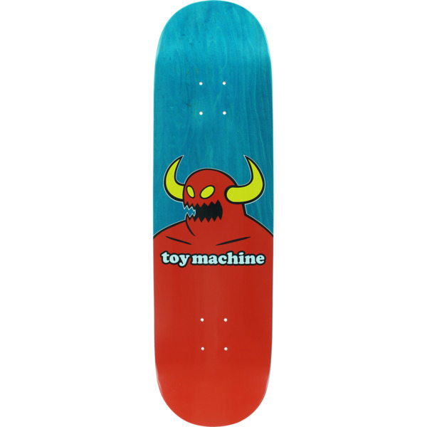 "Toy Machine Skateboards Vice Monster Turquoise Skateboard Deck - 8.63"" x 32"""