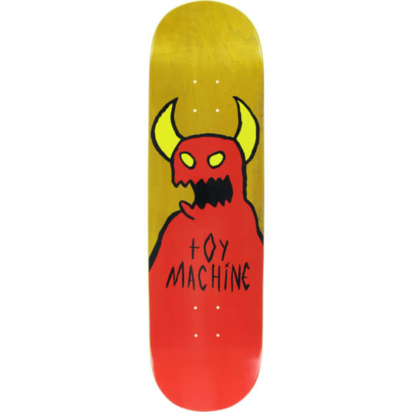 "Toy Machine Skateboards Sketchy Monster Skateboard Deck - 8.37"" x 32"""