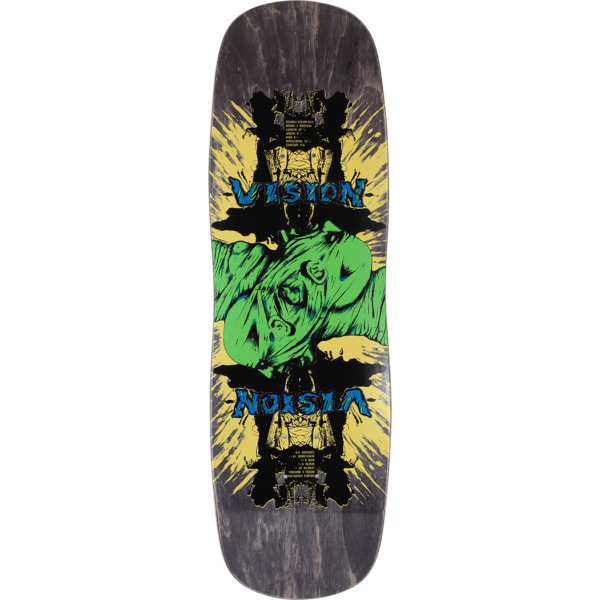 """Vision Skateboards Double Vision Black Old School Skateboard Deck - 9.5"""" x 32.5"""""""