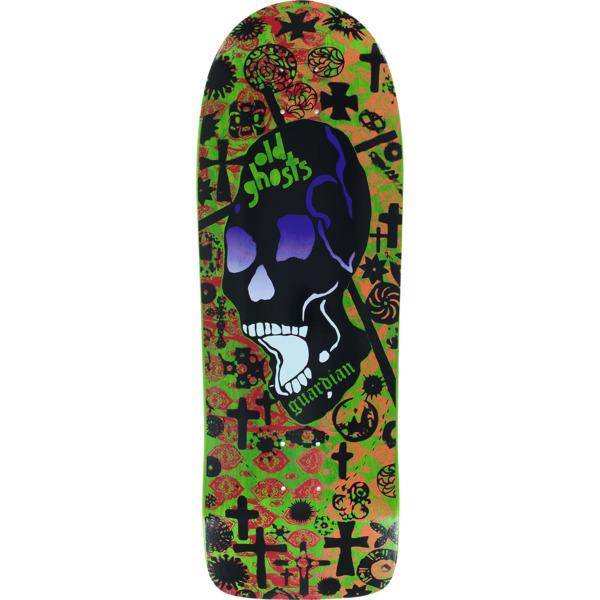 """Vision Skateboards Old Ghost MC Lime / Red / Orange Old School Skateboard Deck - 10"""" x 30.25"""""""