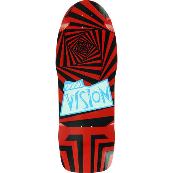 """Vision Skateboards The Original Vision Red / Black Old School Skateboard Deck - 10"""" x 30"""""""